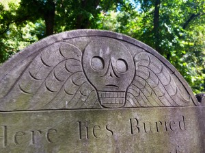 This style is copied in various forms throughout many of the older Boston graveyards.  Some quite good.  The creative interpretations are awfully nice.